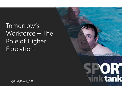 Andy Reed Tomorrows Workforce - The Role of Higher Education