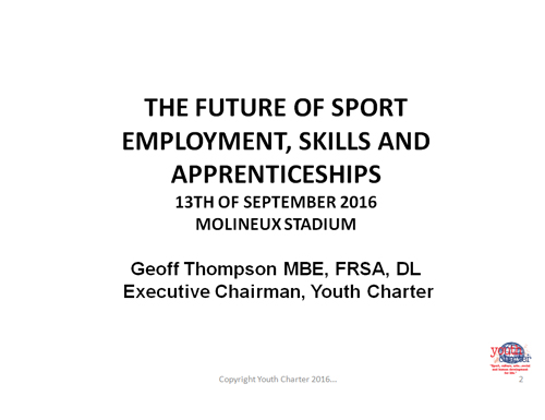 The Future of Sport Employment, Skills and Apprenticeship